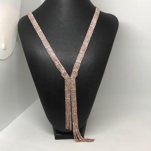Ella Lariat Rhinestone Glamorous Necklace